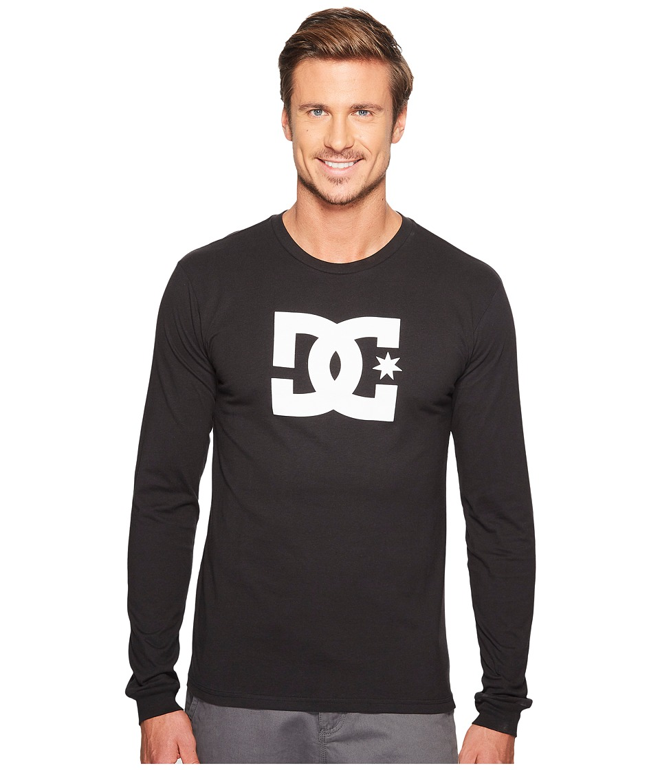 DC - Star Long Sleeve (Black) Men's Clothing