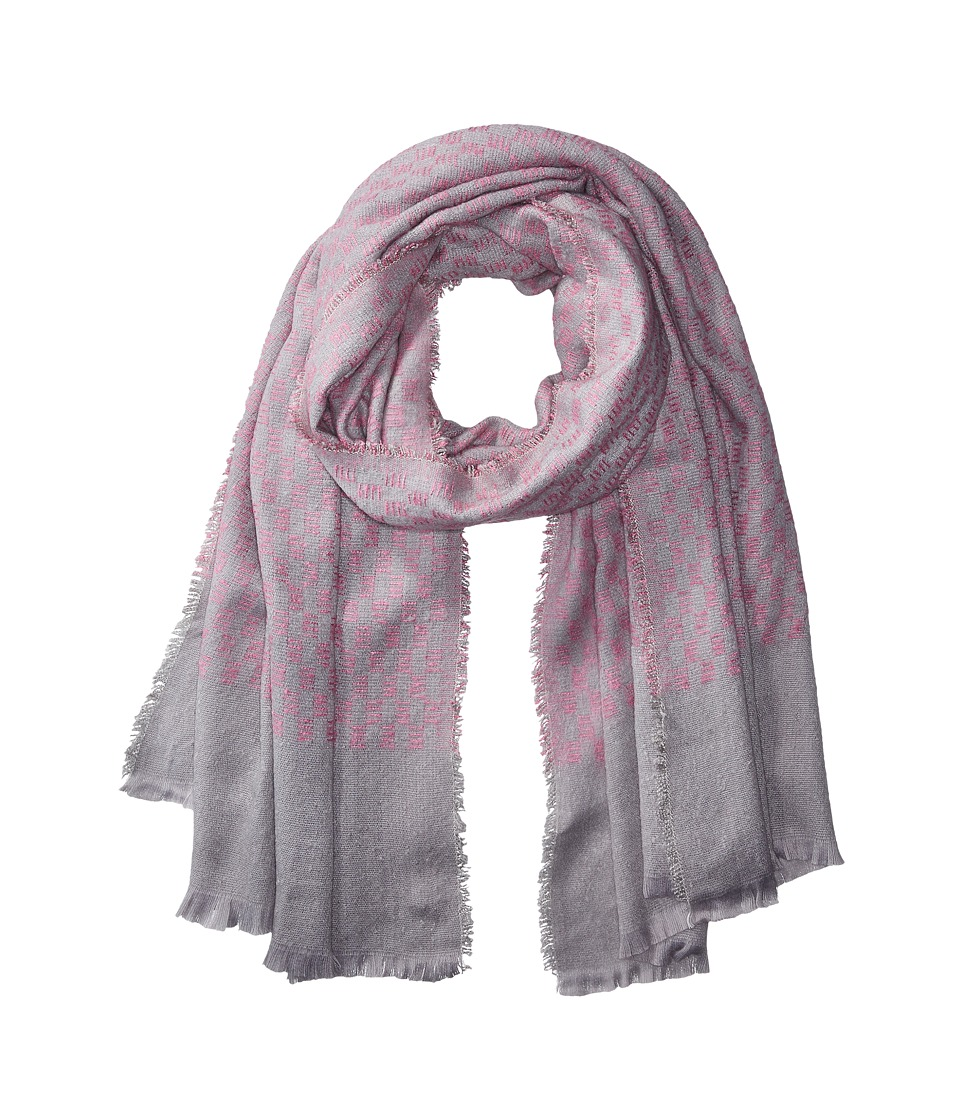 Image of Bindya - Check Print Scarf (Pink) Scarves