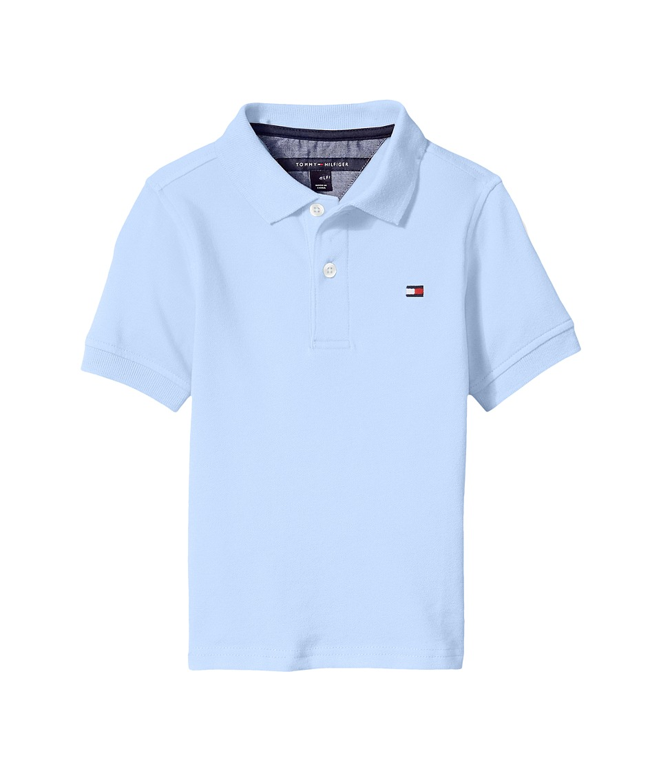 Tommy Hilfiger Kids - Ivy Stretch Pique Polo (Big Kids) (Industry Blue) Boy's Clothing