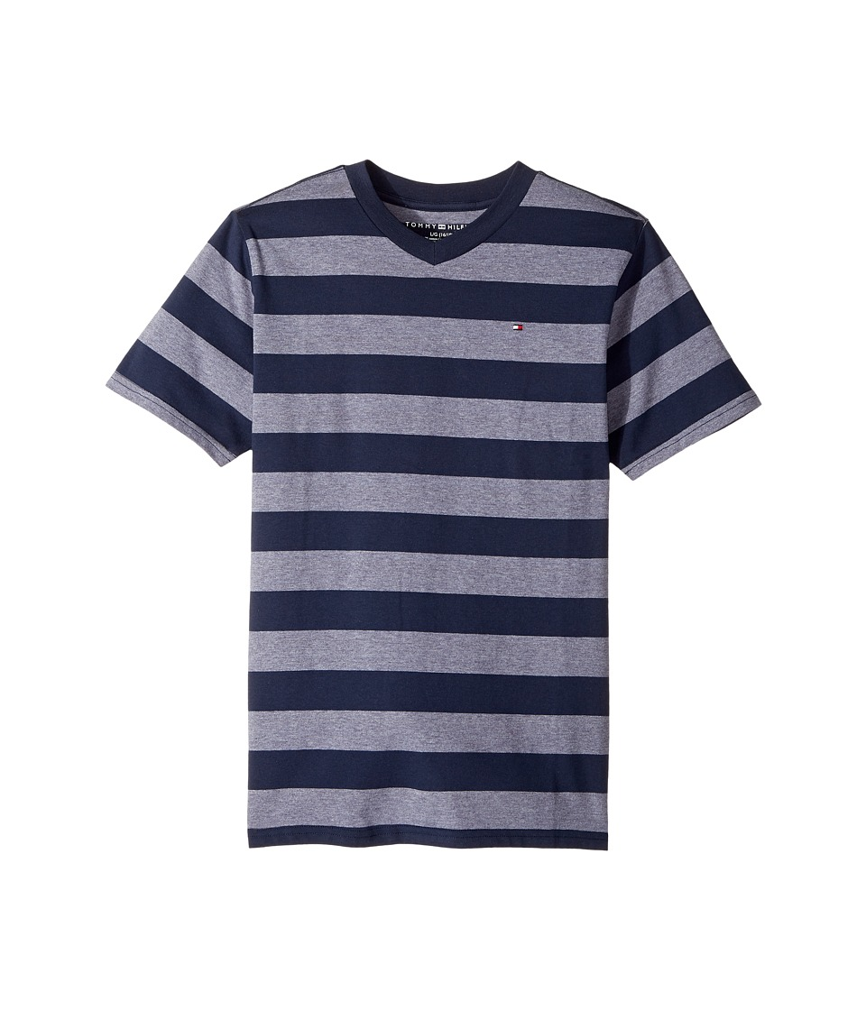 Tommy Hilfiger Kids - Ben Stripe Tee (Big Kids) (Swim Navy) Boy's T Shirt