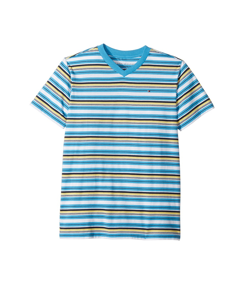 Tommy Hilfiger Kids - Ray Tee (Big Kids) (Atlantis Blue) Boy's T Shirt