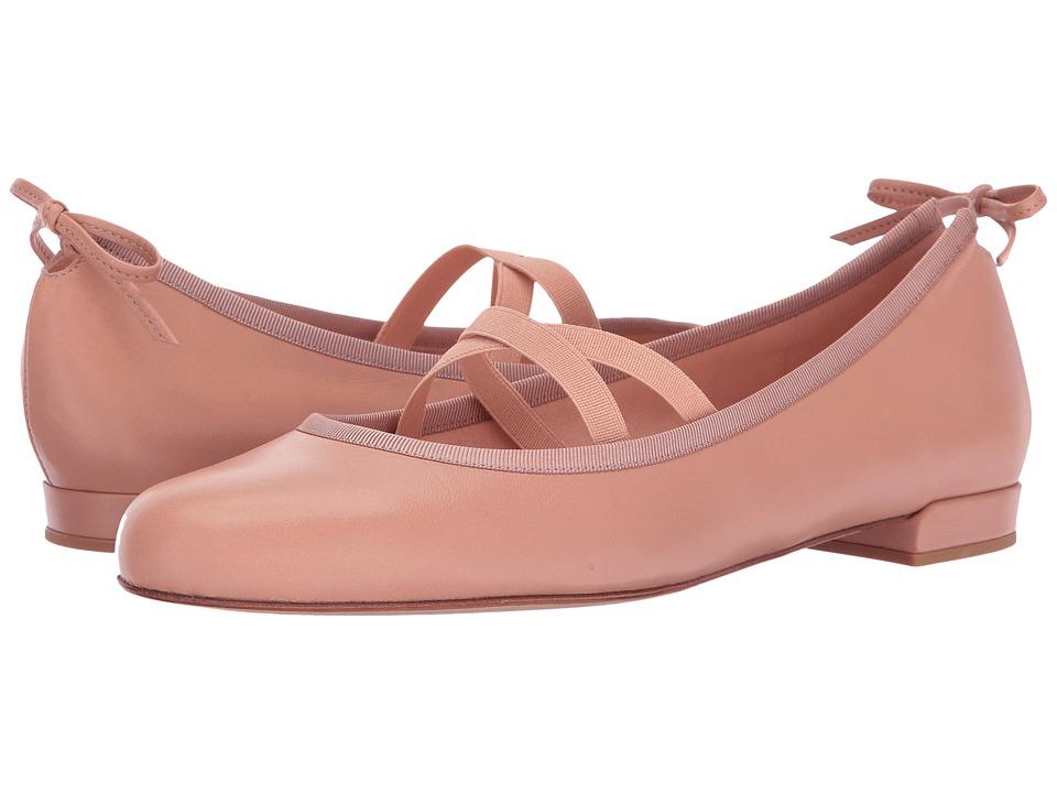 Stuart Weitzman - Bolshoi (Nude Nappa) Women's Dress Flat Shoes