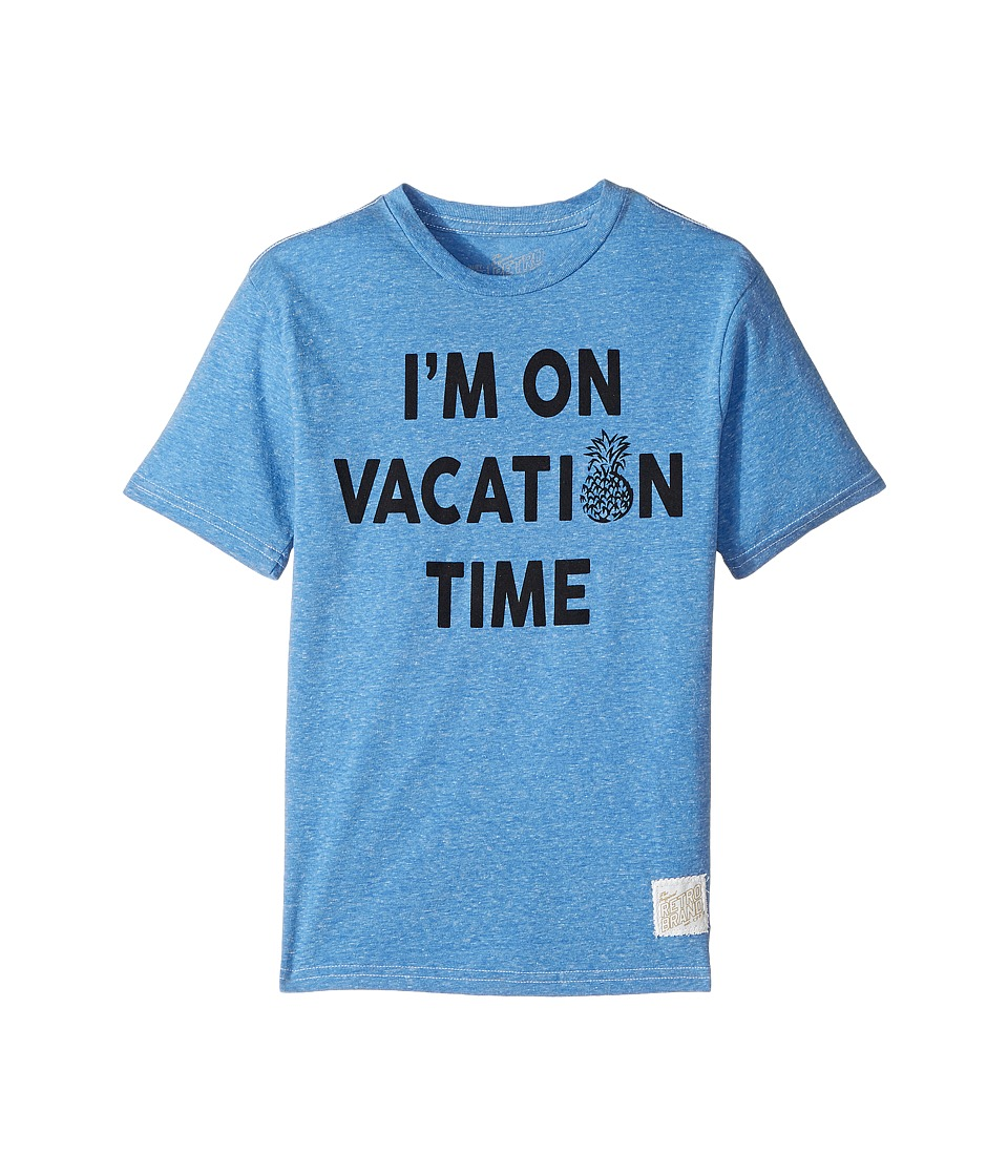 The Original Retro Brand Kids - I'm on Vacation Time Tri-Blend Tee (Big Kids) (Streaky Royal) Boy's T Shirt