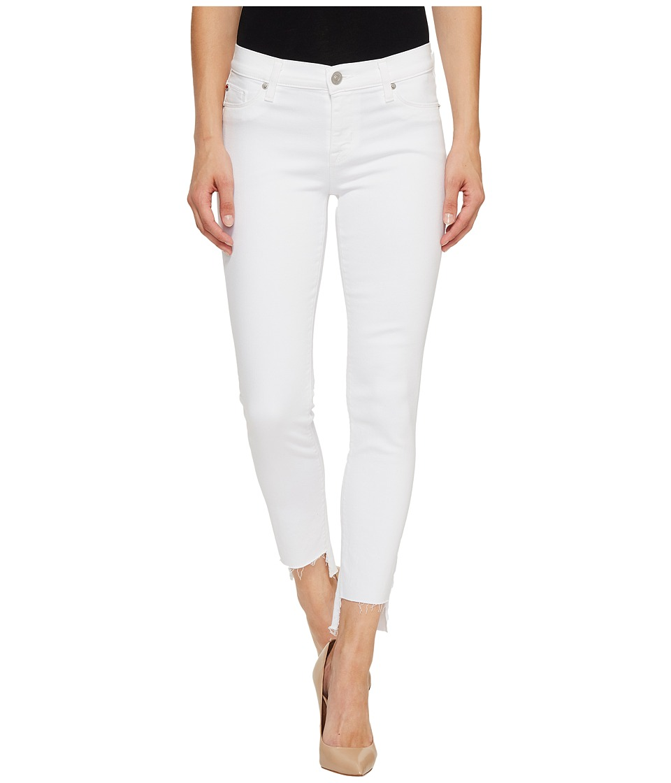Hudson - Colette Mid-Rise Skinny with Raw Step Hem in White (White) Women's Jeans