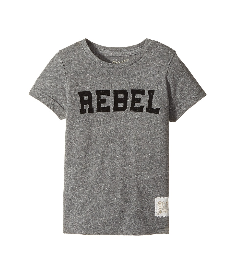 The Original Retro Brand Kids - Rebel Short Sleeve Tri-Blend Tee (Little Kids/Big Kids) (Streaky Grey) Boy's T Shirt