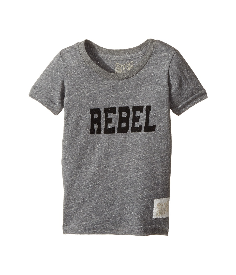 The Original Retro Brand Kids - Rebel Short Sleeve Tri-Blend Tee (Toddler) (Streaky Grey) Boy's T Shirt
