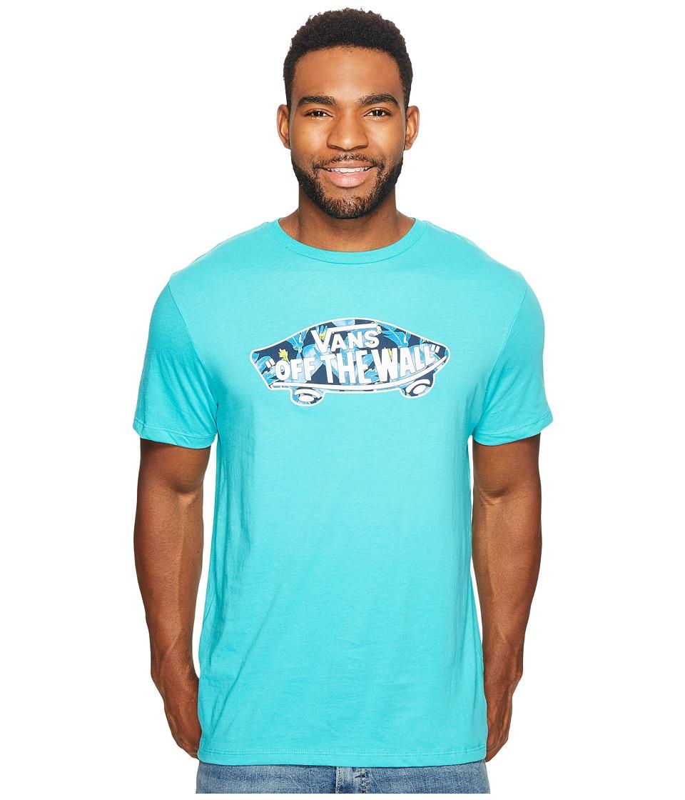 Vans - OTW Logo Fill Tee (Teal/Dress Blues Bonsai Leaf) Men's T Shirt
