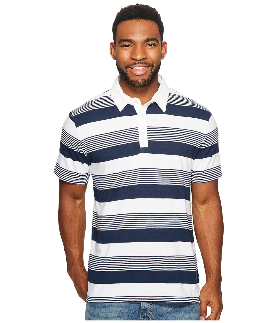 Vans - Chima II Short Sleeve Polo (Bright White) Men's Clothing