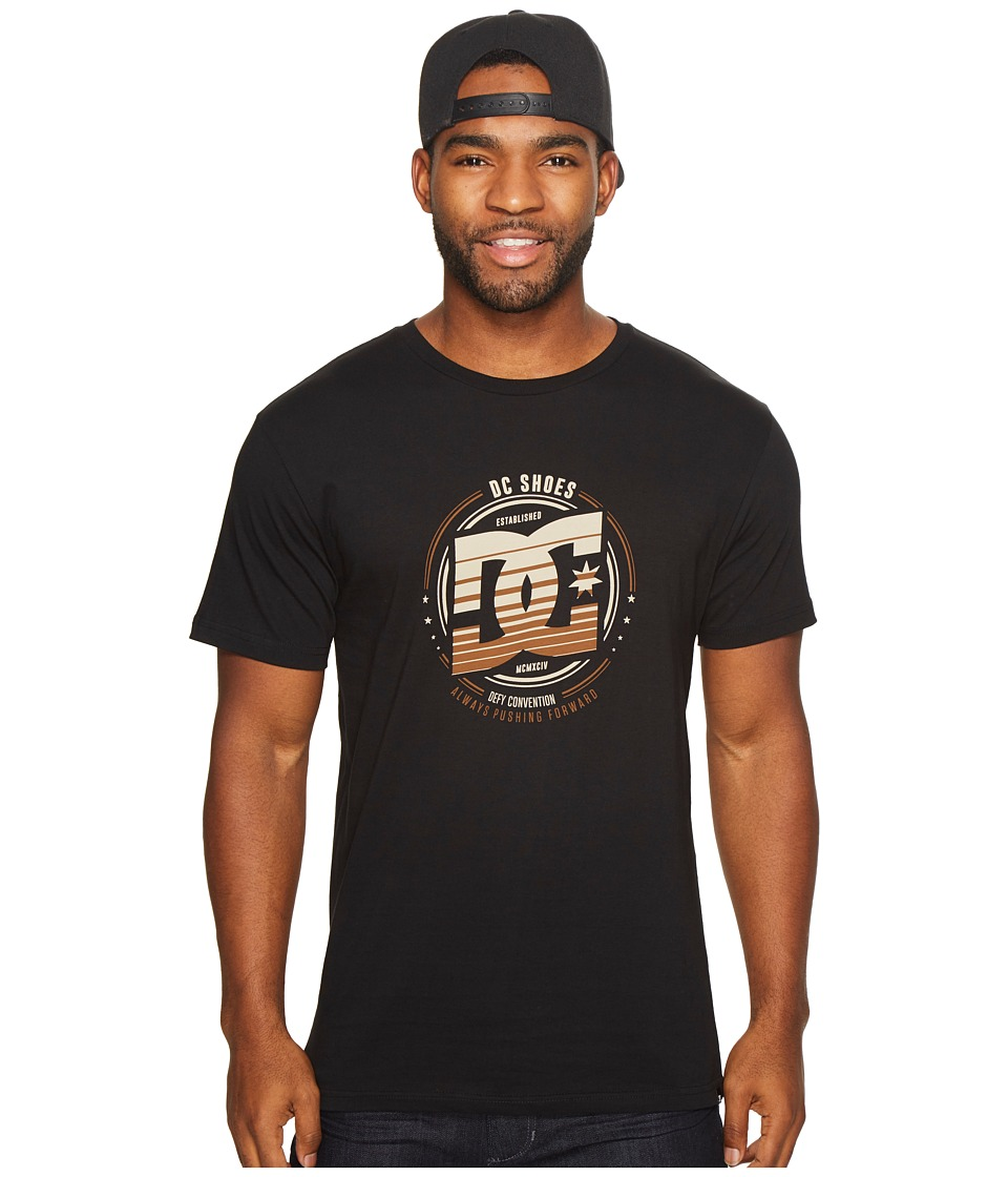 DC - Heraldry Tee (Black) Men's Clothing