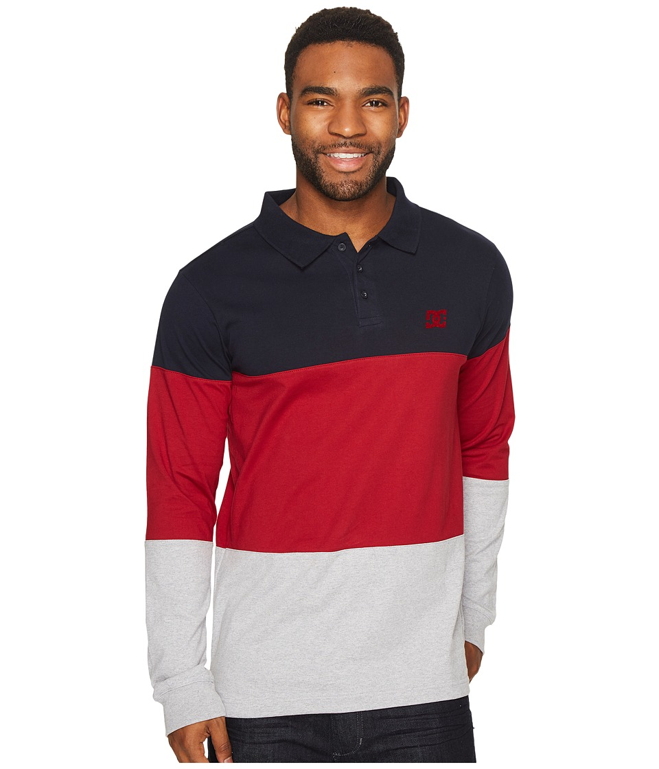 DC - 94 Heritage Long Sleeve Polo (Dark Indigo) Men's Clothing