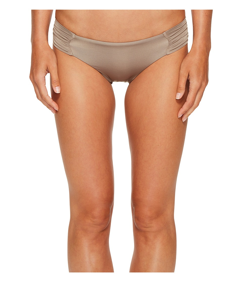 Trina Turk Studio Solids Shirred Side Hipster Bikini Bottom (Taupe) Women