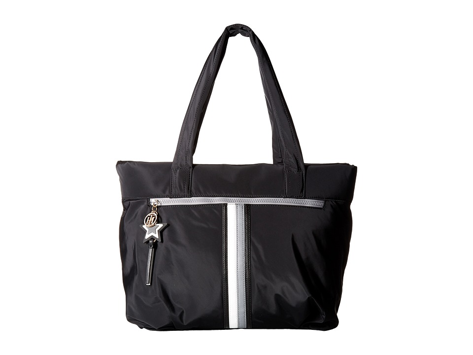 Tommy Hilfiger - Karina Tote Soft Nylon (Black) Tote Handbags