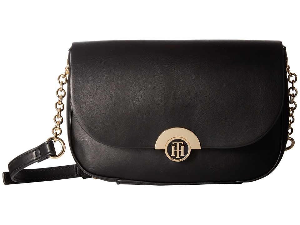 Tommy Hilfiger - Effort Novelty Flap Crossbody (Black) Cross Body Handbags