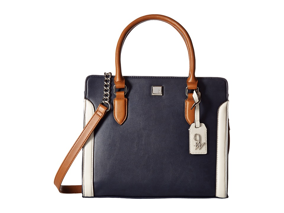 Nine West - Me Time (French Navy/Tobacco/Chalk) Handbags