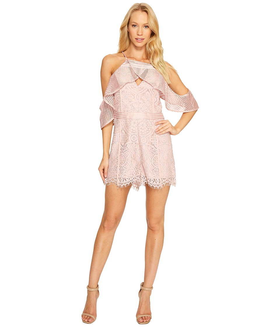 Adelyn Rae - Estelle Romper (Chalk Pink) Women's Jumpsuit & Rompers One Piece