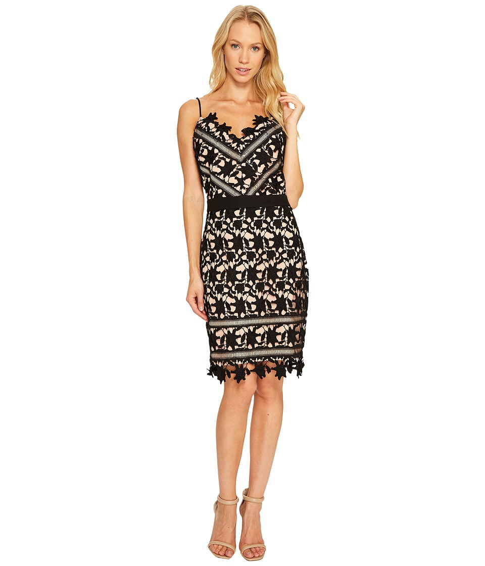 Adelyn Rae - Whitney Sheath Dress (Black/Nude) Women's Dress