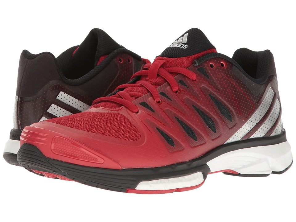 adidas - Volley Response Boost 2.0 (Power Red/Metallic Silver/Black) Women's Volleyball Shoes