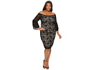 Adrianna Papell - Plus Size Juliet Lace Off the Shoulder Sheath Dress