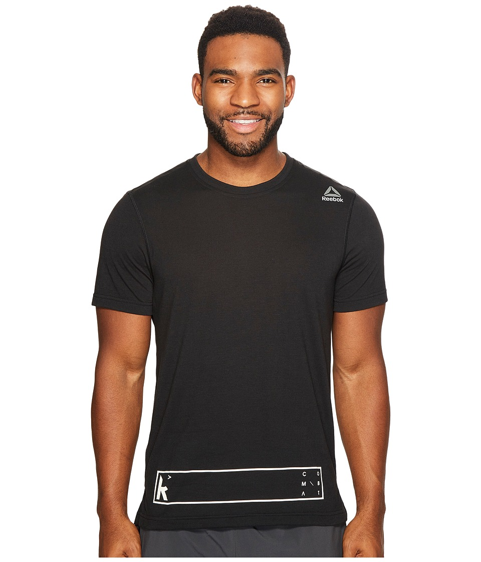 Reebok - Reebok Noble Fight Short Sleeve Speedwick Tee (Black) Men's T Shirt