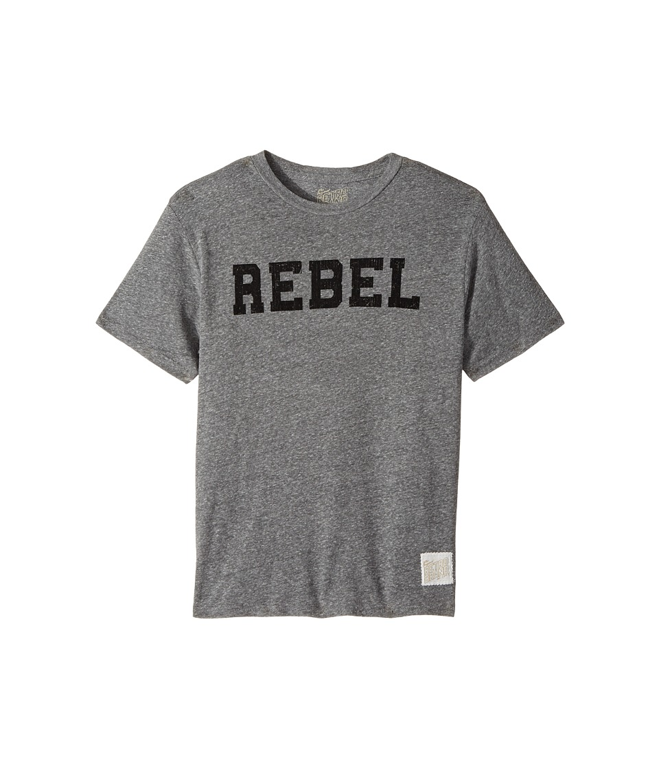 The Original Retro Brand Kids - Rebel Short Sleeve Tri-Blend Tee (Big Kids) (Streaky Grey) Boy's T Shirt