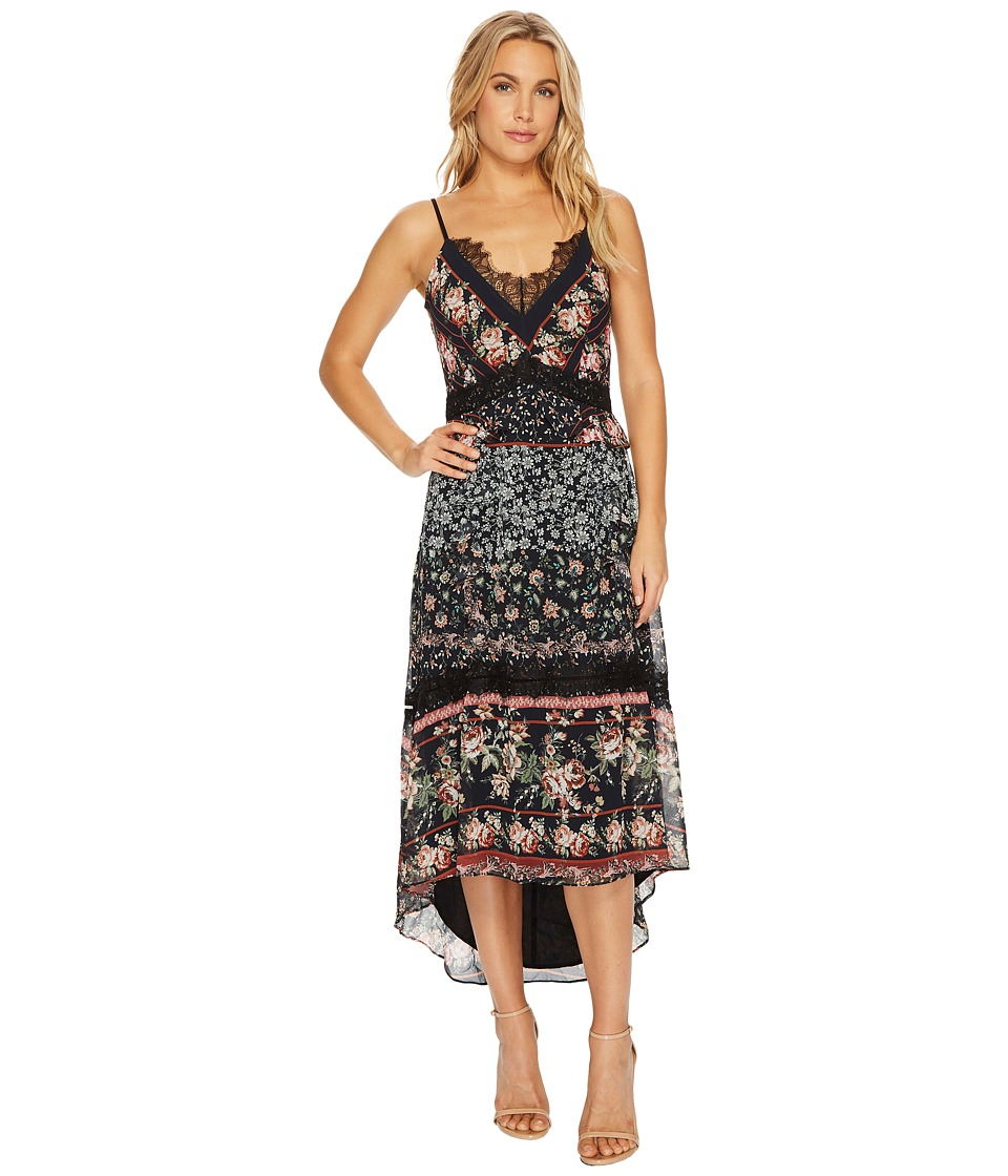 Adelyn Rae - Marcella High-Low Maxi (Black/Red) Women's Dress
