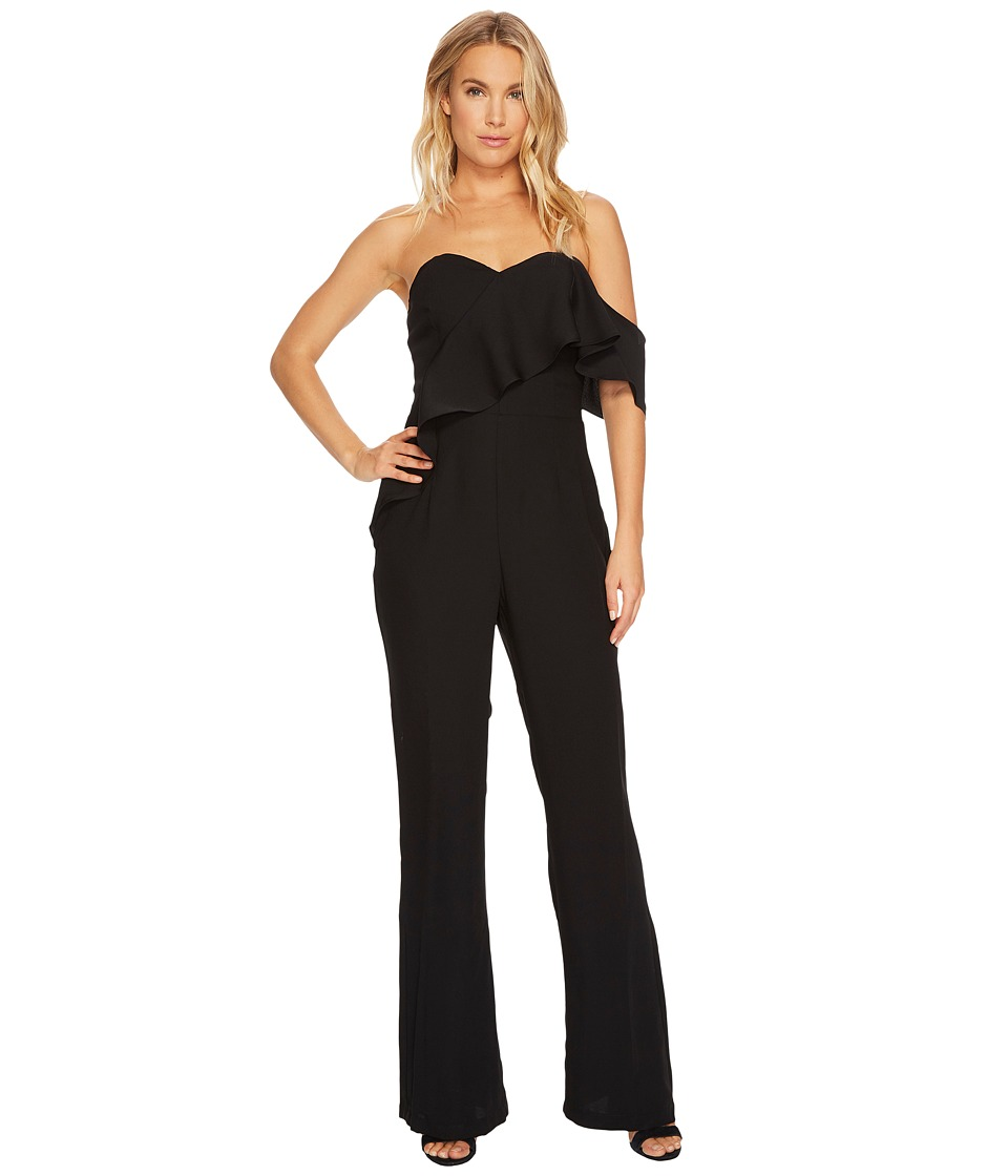 Adelyn Rae - Amelia Strapless Jumpsuit (Black/Red) Women's Jumpsuit & Rompers One Piece