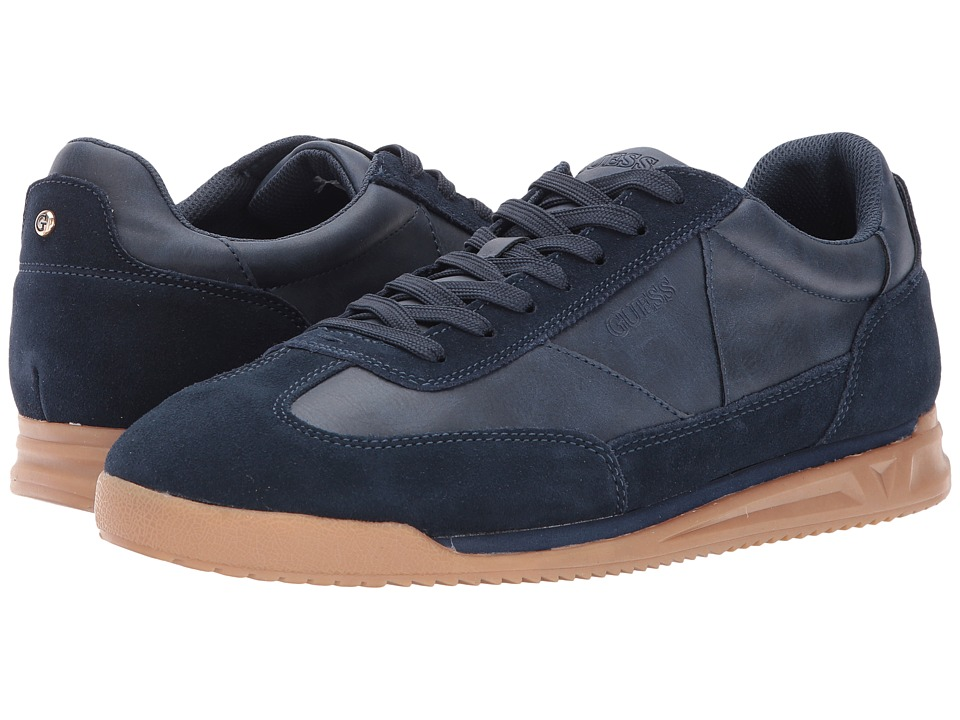 GUESS - Daryl (Navy Suede) Men's Shoes