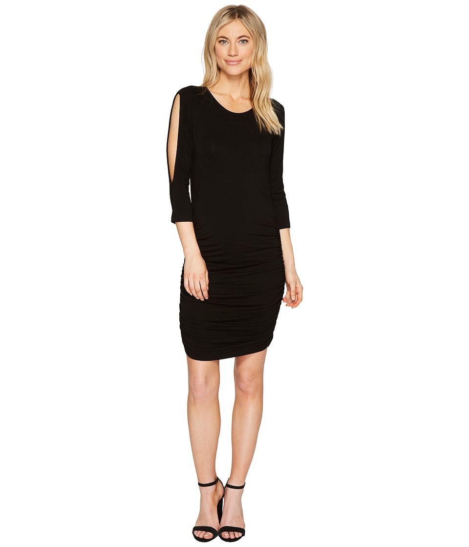 Young Fabulous & Broke Frita Dress (Black Solid) Women