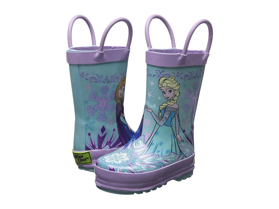 Western Chief Kids - Frozen Sisterhood Rain Boot (Toddler/Little Kid/Big Kid) (Blue) Girls Shoes