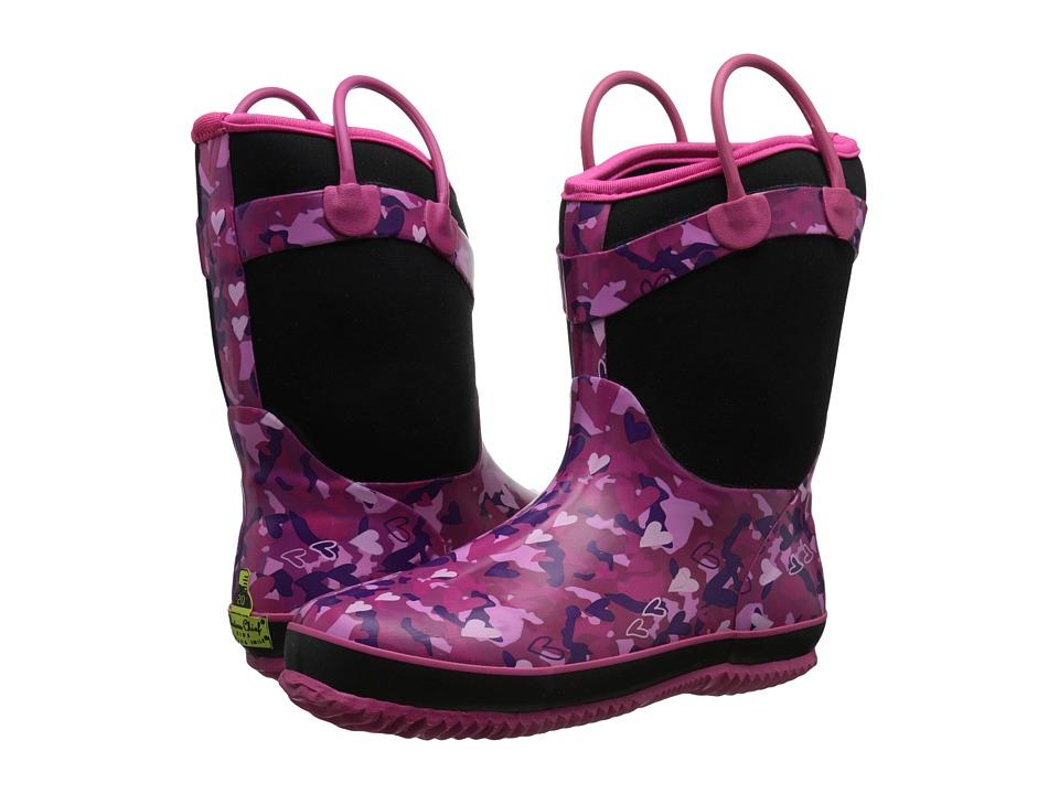 Western Chief Kids - Heart Camo Neoprene Boot (Little Kid/Big Kid) (Black) Girls Shoes
