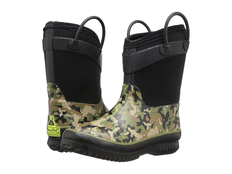 Western Chief Kids - Wilderness Camo Neoprene Boot (Toddler/Little Kid) (Olive) Boys Shoes