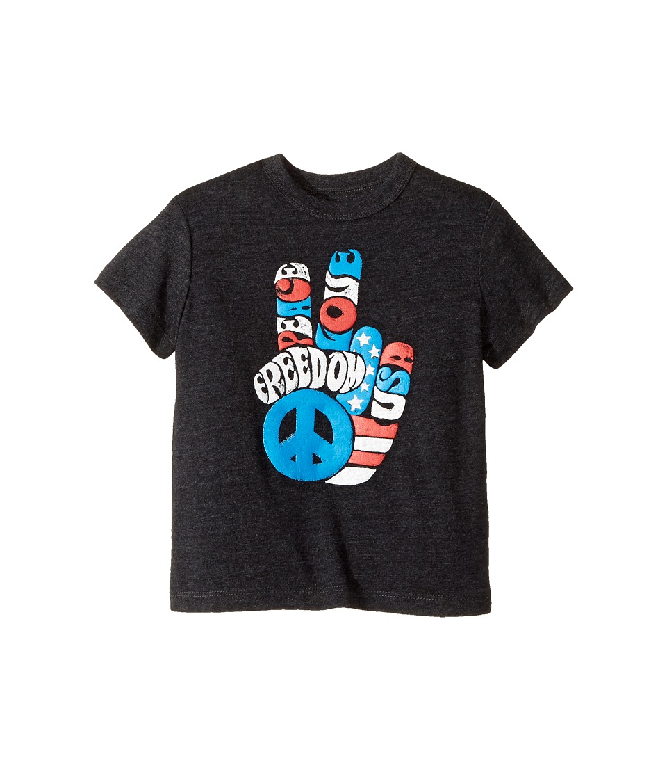 Chaser Kids - Tri-Blend Crew Neck Short Sleeve T-Shirt (Toddler/Little Kids) (Freedom Fingers/Black) Boy's T Shirt