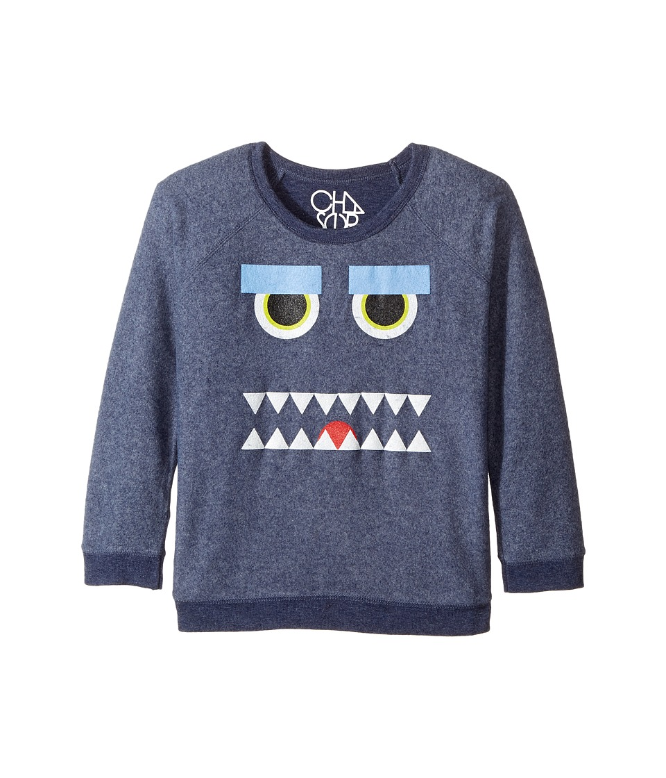 Chaser Kids - Reverse Fleece Poly Rayon Sweatshirt (Little Kids/Big Kids) (Monster Mash/Snorkel Blue) Boy's T Shirt