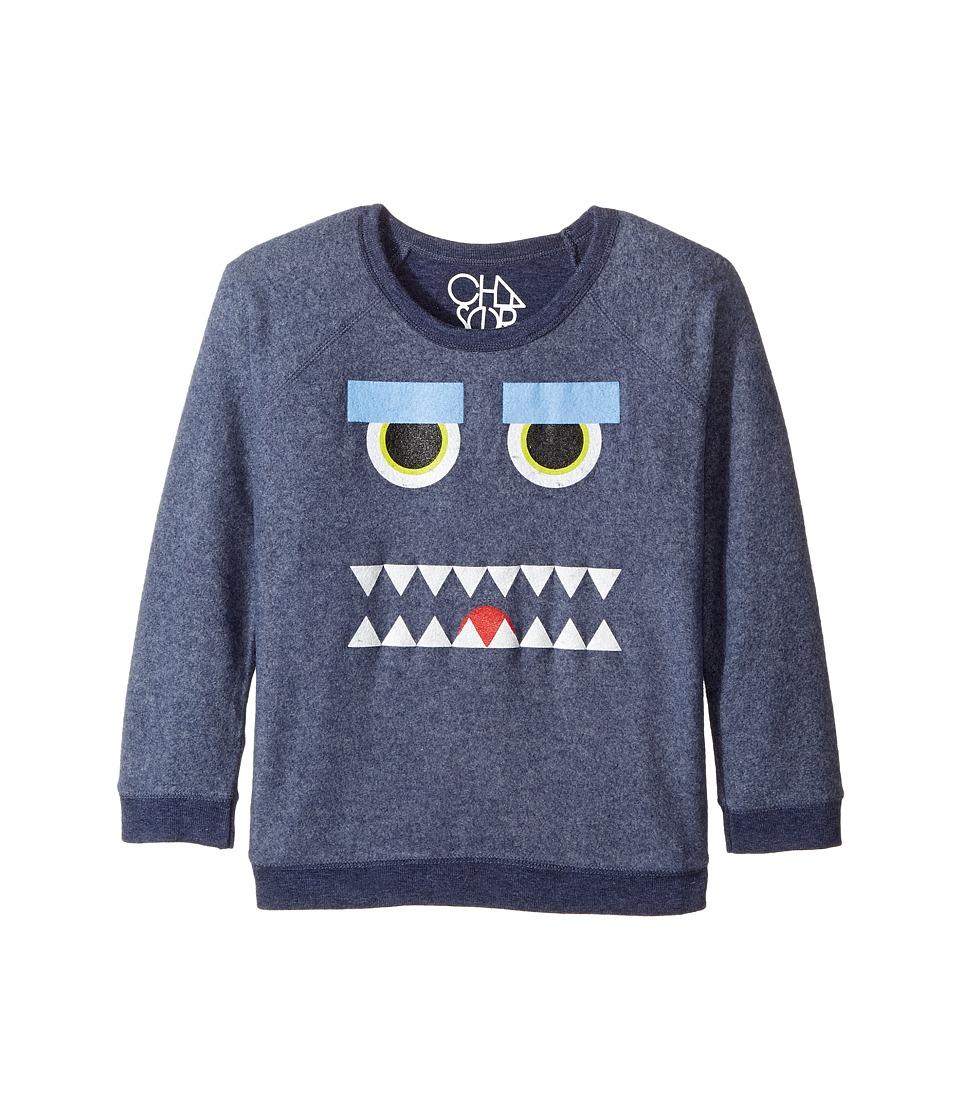 Chaser Kids - Reverse Fleece Poly Rayon Sweatshirt (Little Kids/Big Kids) (Monster Mash/Snorkel Blue) Boy's T Shirt