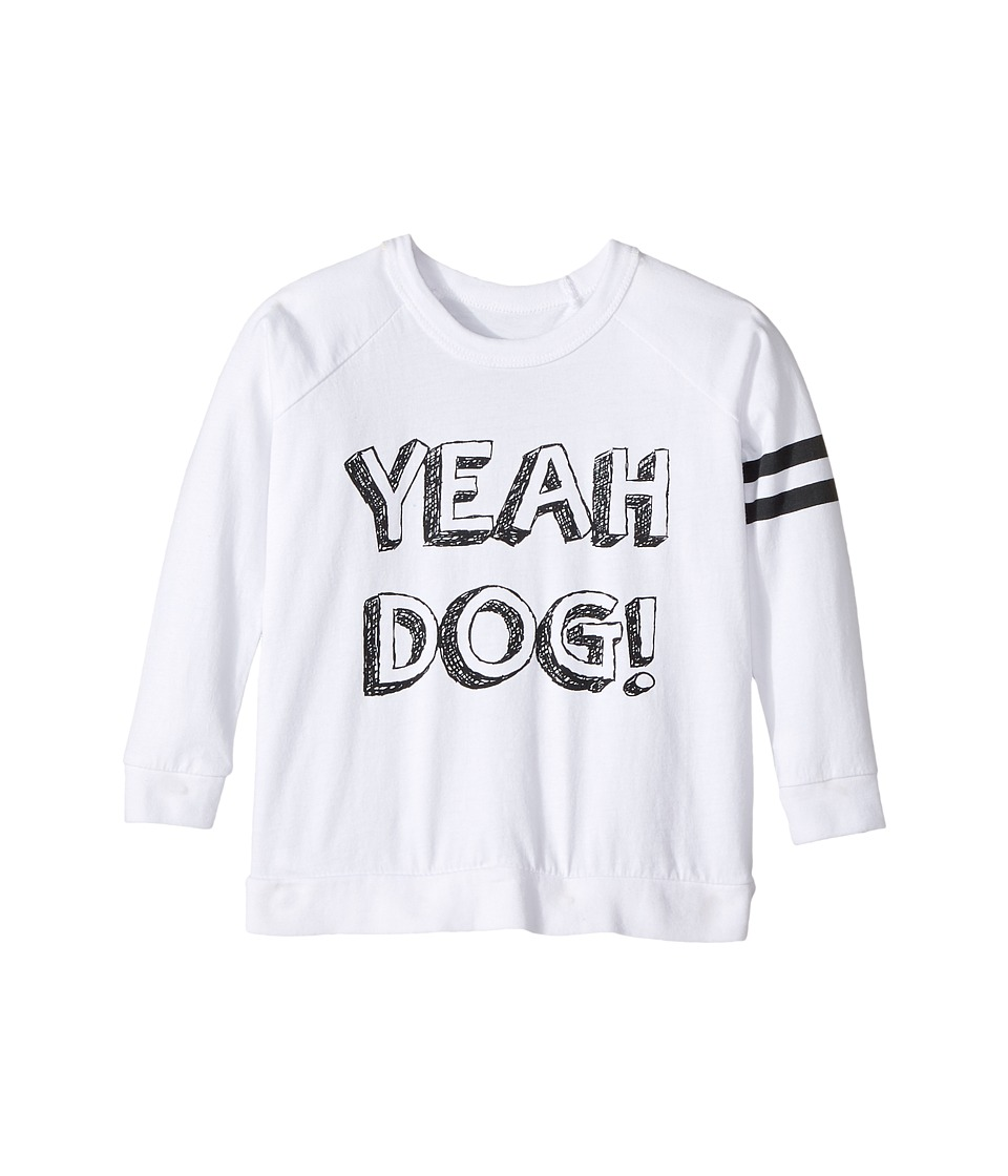 Chaser Kids - Cotton Long Sleeve Raglan T-Shirt (Toddler/Little Kids) (Yeah Dog/White) Boy's T Shirt