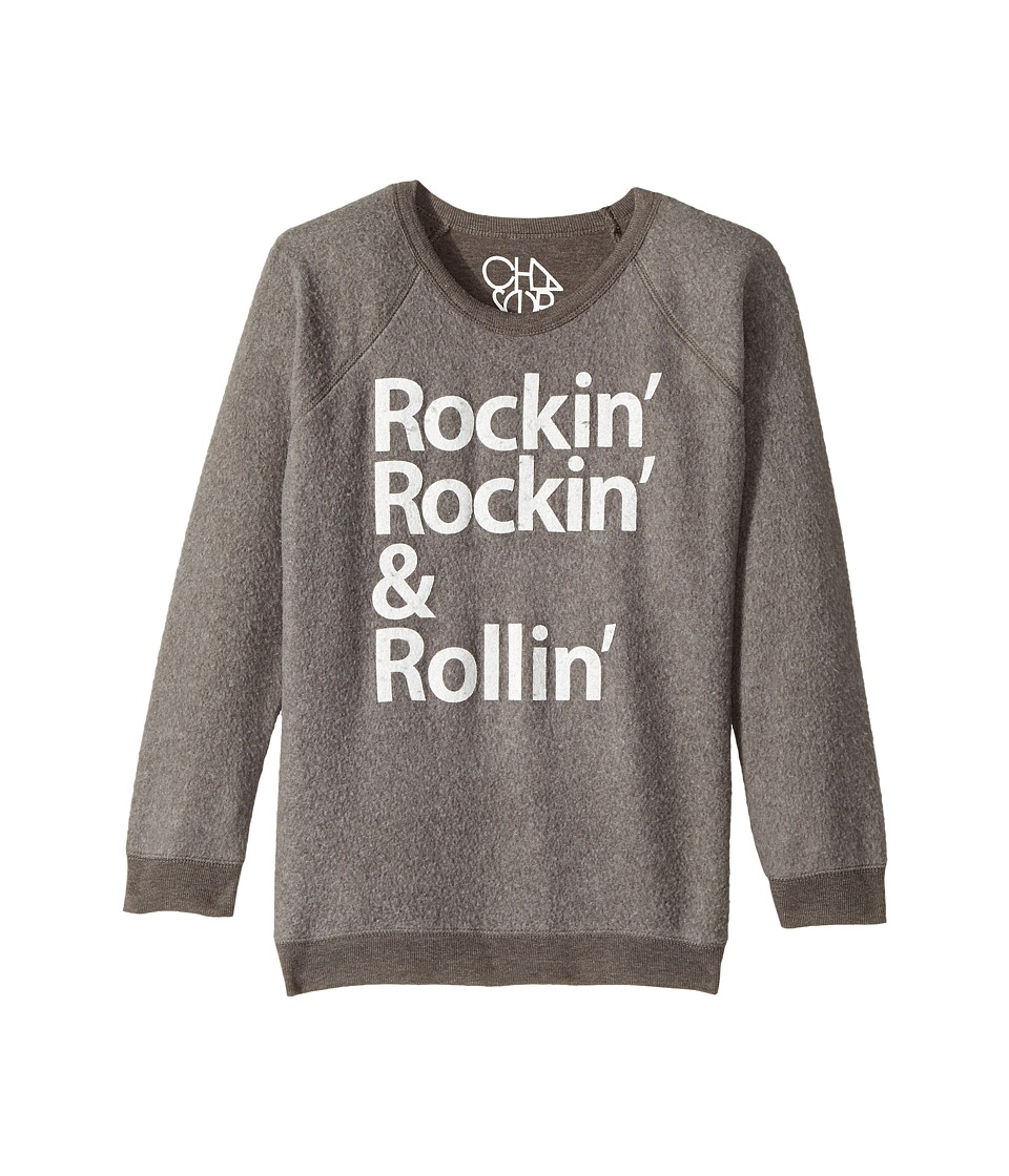 Chaser Kids - Reverse Fleece Poly Rayon Sweatshirt (Little Kids/Big Kids) (Rockin & Rollin/Smoke Grey) Boy's T Shirt