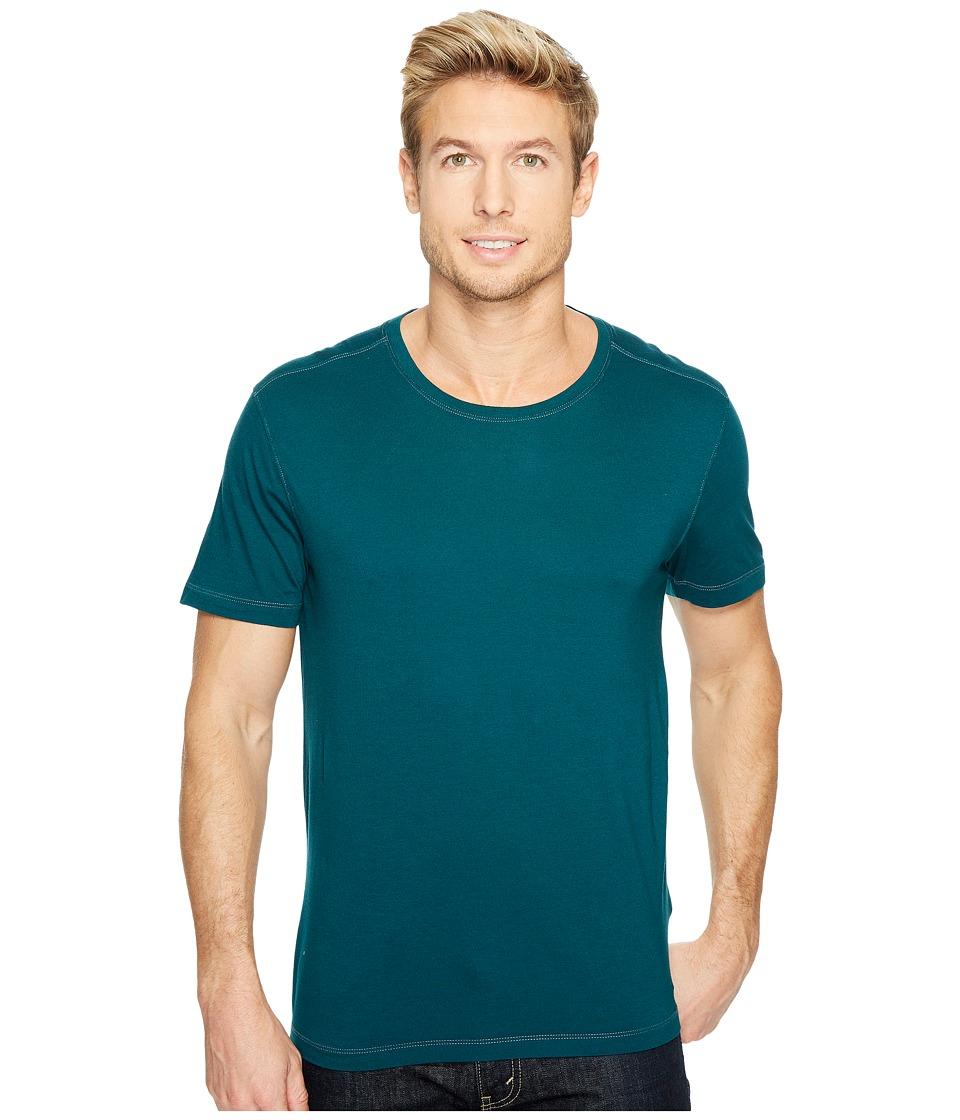 Agave Denim Mikey Short Sleeve Crew Tee (Deep Teal) Men's T Shirt