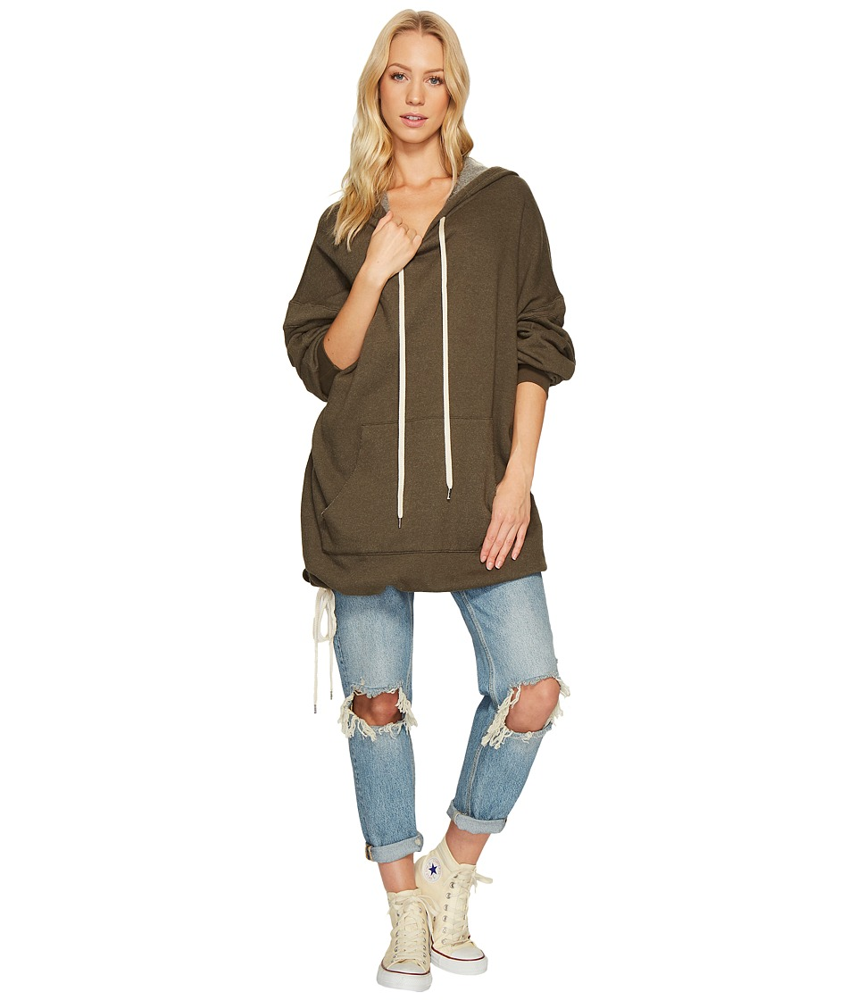 Project Social T - Luca Oversized Hoodie (Black Olive) Women's Sweatshirt