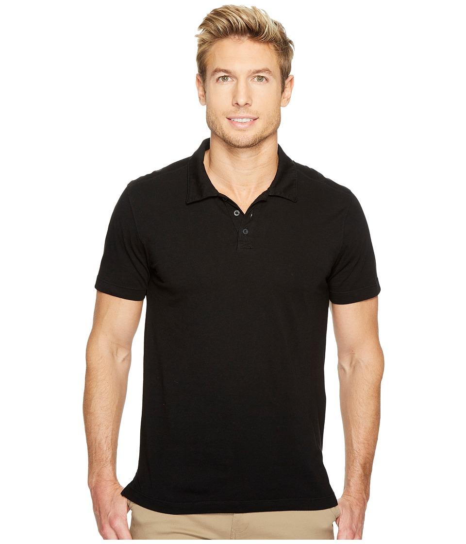 Agave Denim - Collawash Short Sleeve Supima Polo (Black) Men's Short Sleeve Pullover