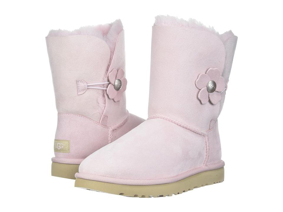 UGG Bailey Button Poppy (Seashell Pink) Women