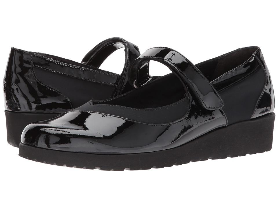 Walking Cradles - Finley (Black Patent/Black) Women's Shoes