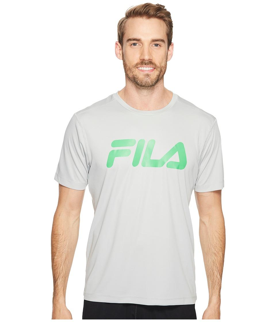 Fila - Speed Graphic Crew (High-Rise/Island Green) Men's Clothing