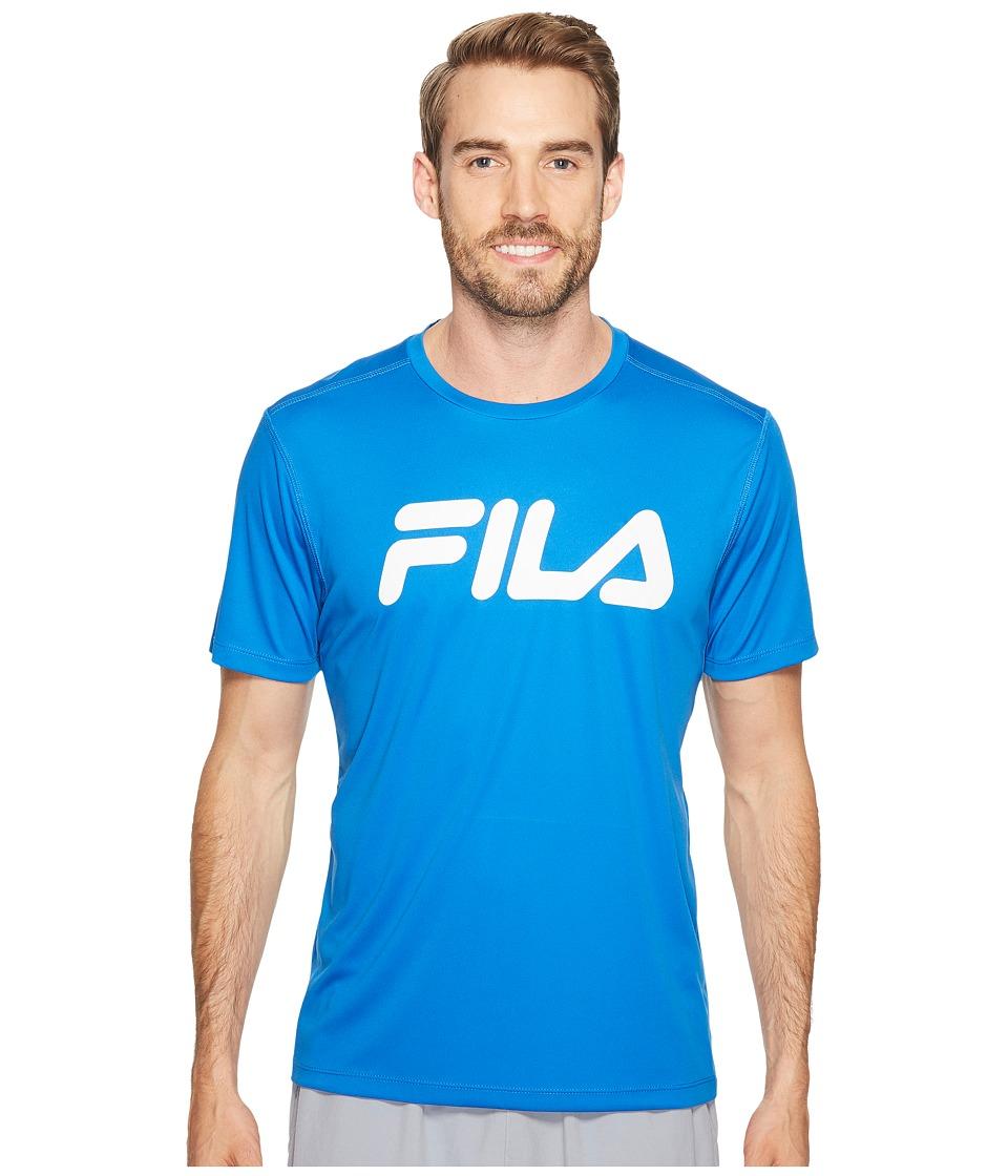 Fila - Speed Graphic Crew (Prince Blue/White) Men's Clothing