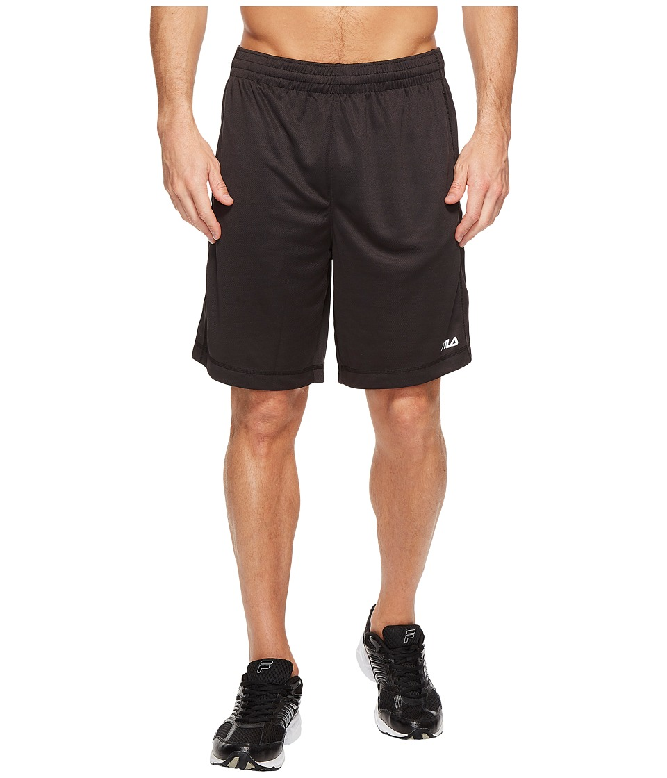 Fila Sidewalk Shorts (Black/Black) Men