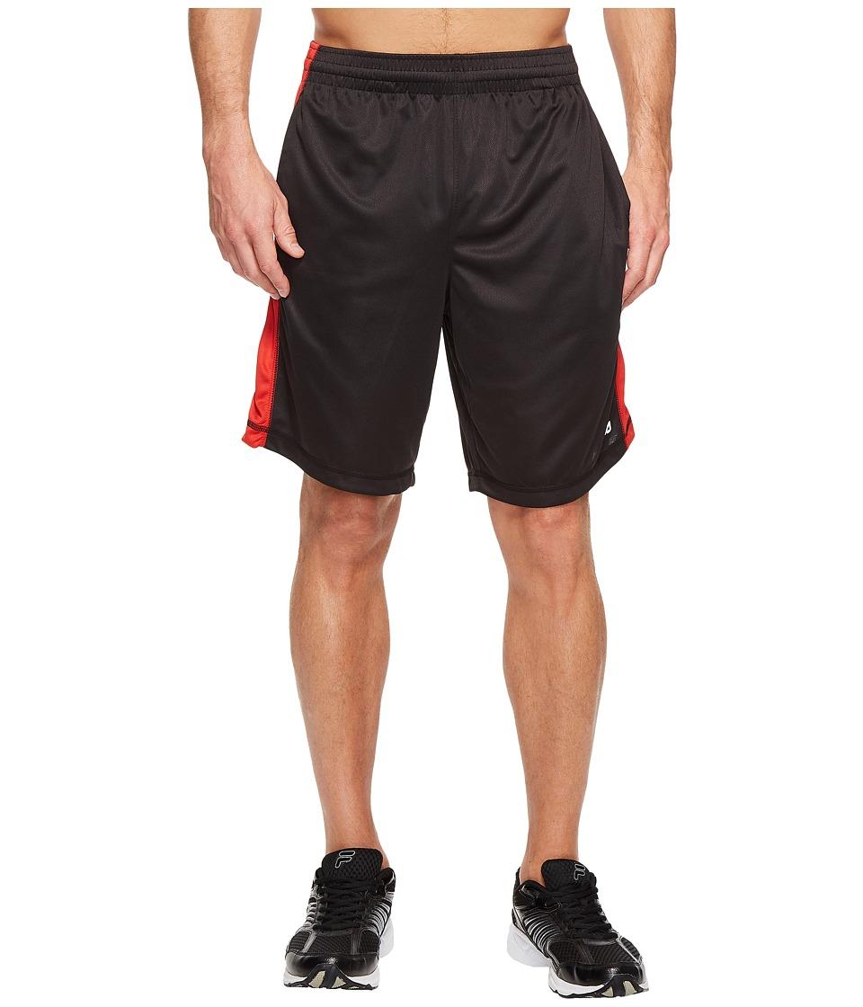Fila Sidewalk Shorts (Black/Chinese Red) Men