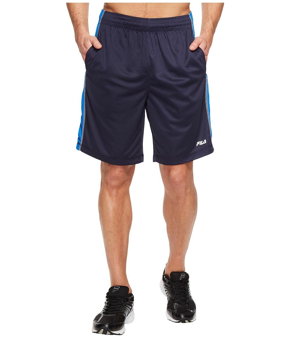 Fila Sidewalk Shorts (Navy/Prince Blue/High-Rise) Men