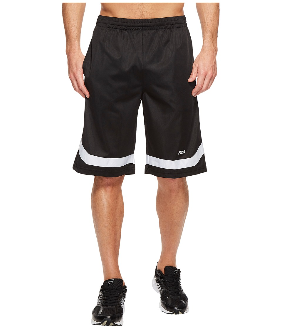 Fila - Circuit Shorts (Black/White) Men's Shorts