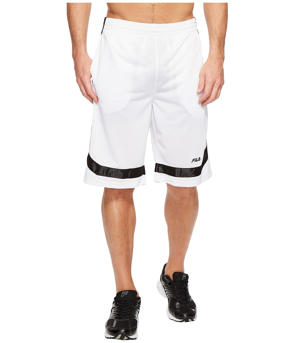 Fila - Circuit Shorts (White/Black) Men's Shorts