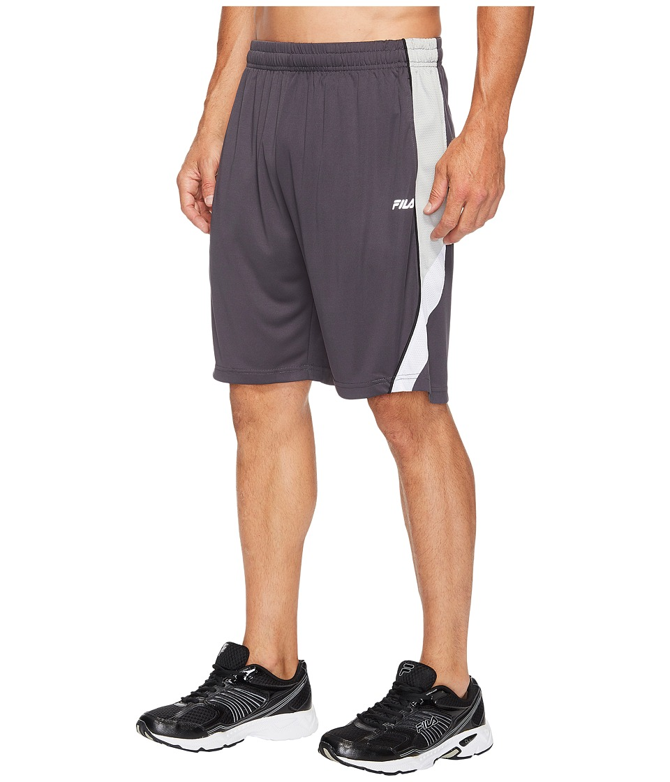 Fila Nimble Shorts (Nine Iron/High-Rise/White/Black) Men