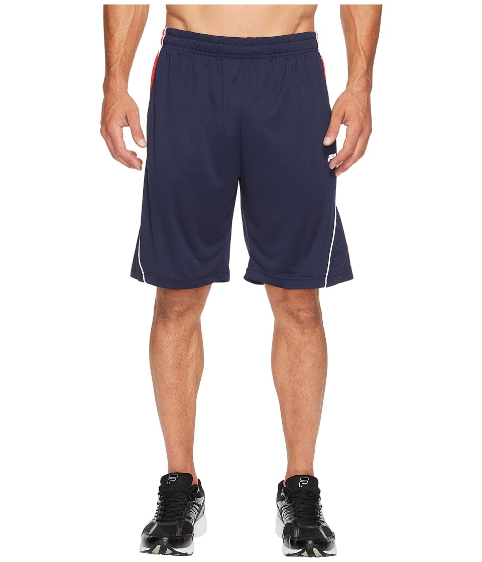 Fila - Nimble Shorts (Navy/Chinese Red/Navy/White) Men's Shorts